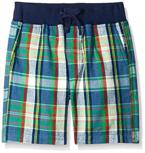 Wes and Willy Big Boys' Rib Waist Plaid Short, Bold Gold, ()