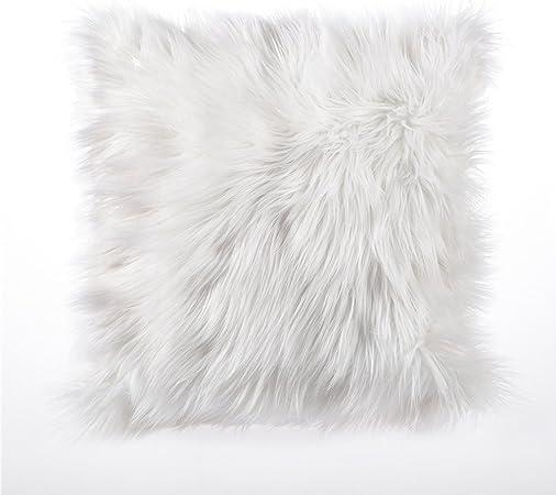 Cuscini Con Pelo.Vanker Fodera Per Cuscino Con Pelliccia A Pelo Lungo 45 X 45 Cm