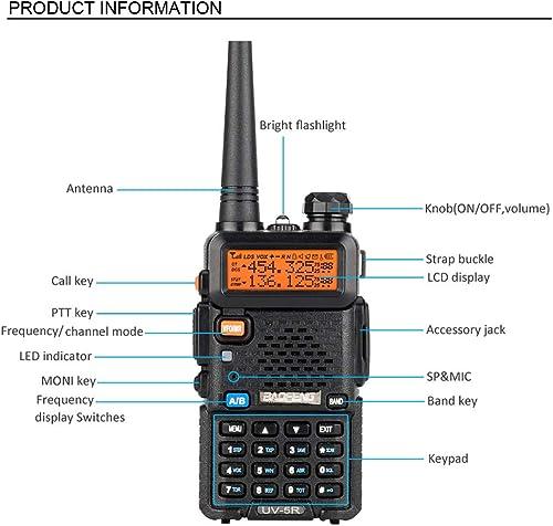 Baofeng 10 Pack UV-5R UHF VHF 136-174 400-480 MHz Dual-Band CTCSS DCS FM Transceiver Ham Amateur Radio