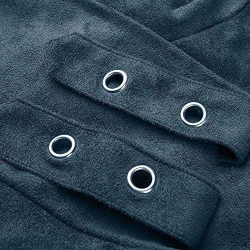 Beladla Outwear Larga Mujer Casual Con Bolsillos Azul Elegante Chaqueta Extragrande Trenca Alto Abrigo Manga rzvrUC