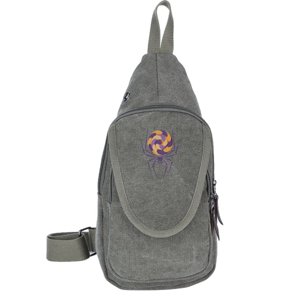 dcc6231ac5af Mens Womens Chest Pack Spider-cartoon Print Rover Sling Pack ...