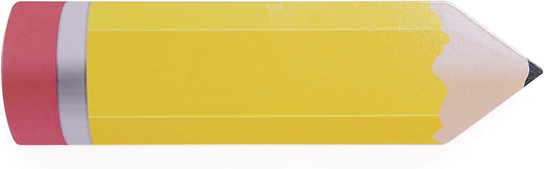 Guidecraft Classroom Wall Art Yellow Pencil - Kids Preschool Decorative Wooden Wall Plaque