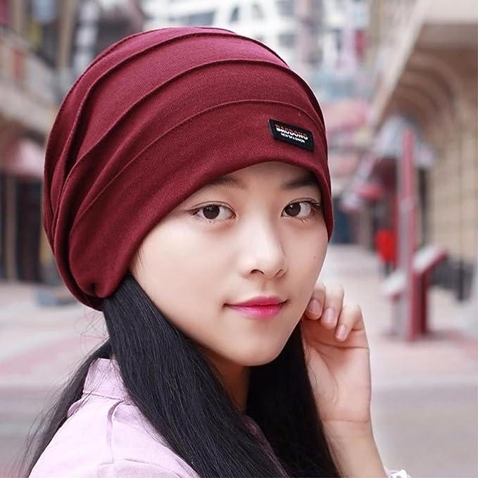 SAIBANGZI Tapa Para Hombres Y Mujeres Cabeza De Luz Tapa Bufanda Hat Otoño  Cap Mujer Embarazada Del Sombrero Negro.  Amazon.es  Hogar 4ac64f119fe