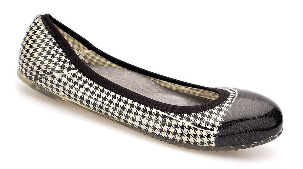 JA VIE Fashion Designer Shoes for Women Jelly Flats Tip for Every Day Wear Driving Walking Traveling B011UPWTKC 38 M EU|Houndstooth, White/ Black