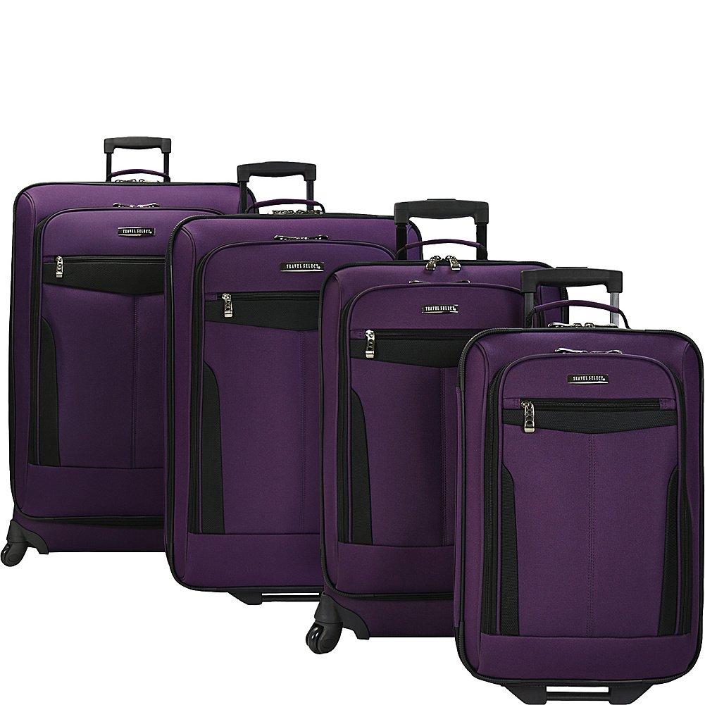 Traveler's Choice Travel Select 4 Piece Luggage Set (Purple)