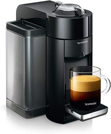 De Longhi Nespresso vertuo | env 150.r Cafetera de cápsulas Schwarz mit Flow Stop Funktion: Amazon.es: Hogar