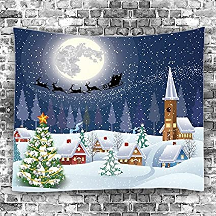 enjohos christmas tapestry wall hanging christmas home decor bedroom living room nursery dorm office wall art - Amazon Christmas Home Decor