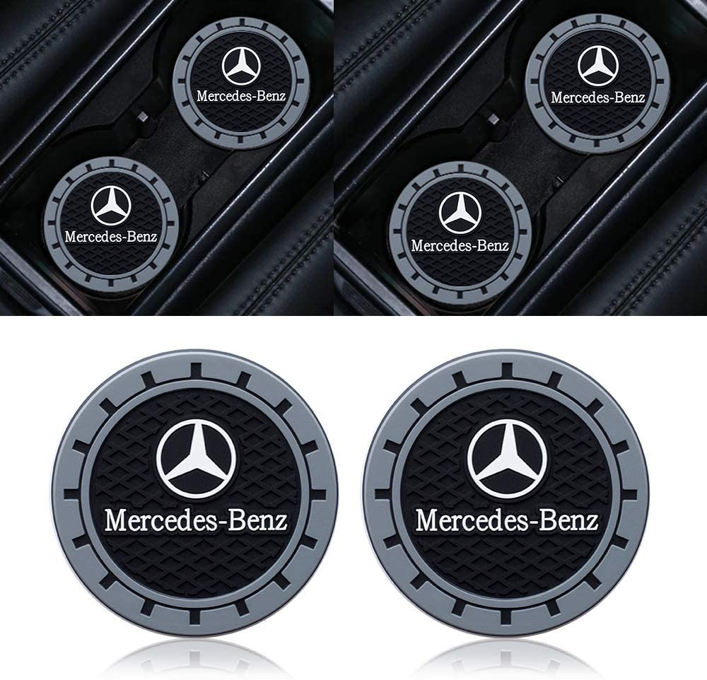 Goshion 2 Pcs 2.75 Inch Diameter Oval Tough Car Logo Vehicle Travel Auto Cup Holder Insert Coaster for Subaru All Models