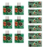 UCEC XY-MK-5V / XY-FST 315Mhz Rf Transmitter and Receiver Link Kit for Arduino/Arm/McU/Raspberry pi 6pack