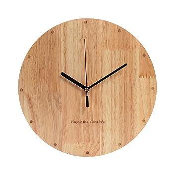 KKLOCK Reloj de pared con mecanismo de cuarzo para salón, dormitorio, cocina, pilas