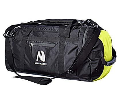 3e9aceda0fc Duffel Dry Bags Waterproof for Sailing Backpack Boating Luggage Team Bag  50-litres (Black
