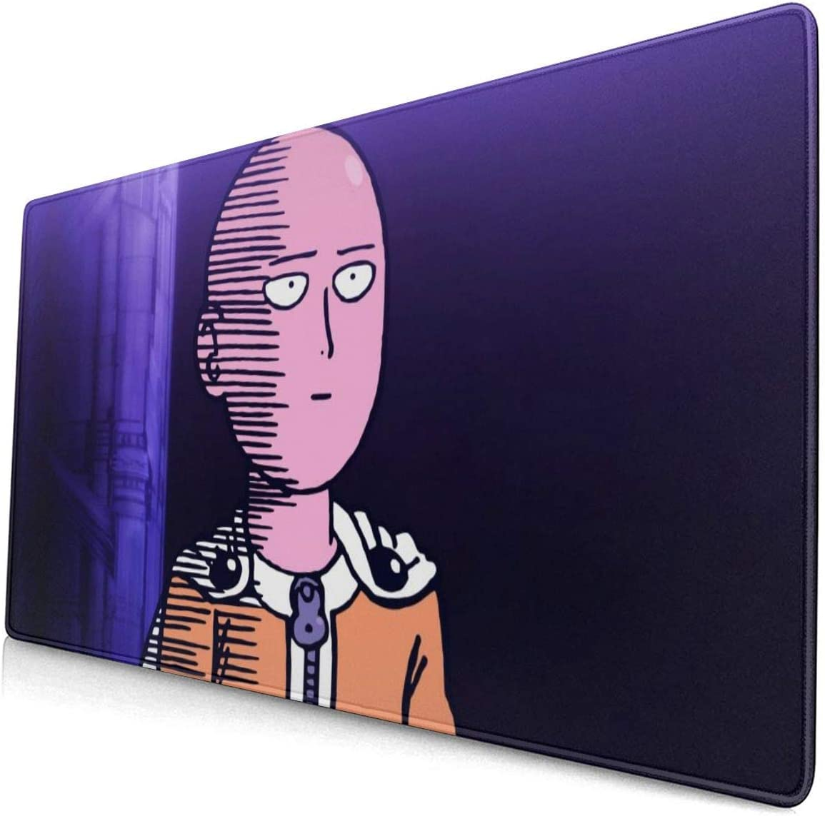 ONE Punch Man Saitama Mouse Pad with Stitched Edge Premium-Textured Mouse Mat Rectangle Non-Slip Rubber Base Oversized Gaming Mousepad,for Laptop Computer /& PC 15.8X29.5 Inches