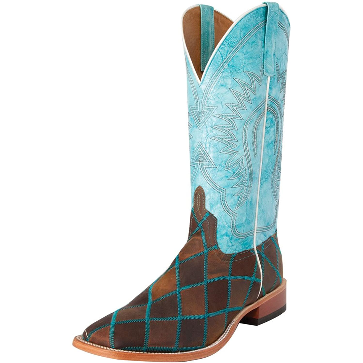 Anderson Bean Mens Horse Power Insane in the Membrane Patchwork Cowboy Boots