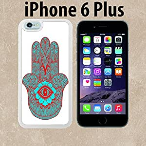 Evil eye hamsa blue and red3 Custom made Case/Cover/skin FOR iPhone 6 Plus - White - Rubber Case ( Ship From CA)