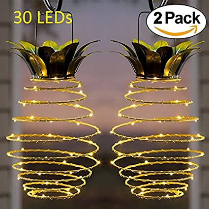 Adecorty Solar Lights Pineapple, Hanging Solar Lanterns 2 Pack 30 LED Solar  Garden Lights Outdoor - Amazon.com : Adecorty Solar Lights Pineapple, Hanging Solar Lanterns