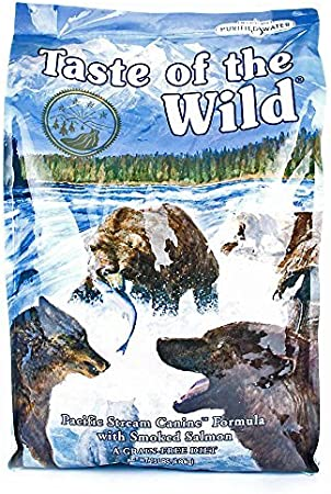 Taste Of The Wild Dry Dog Food, Pacific Stream Canine Formula with Smoked Salmon, 15-Pound Bag by Taste of the Wild