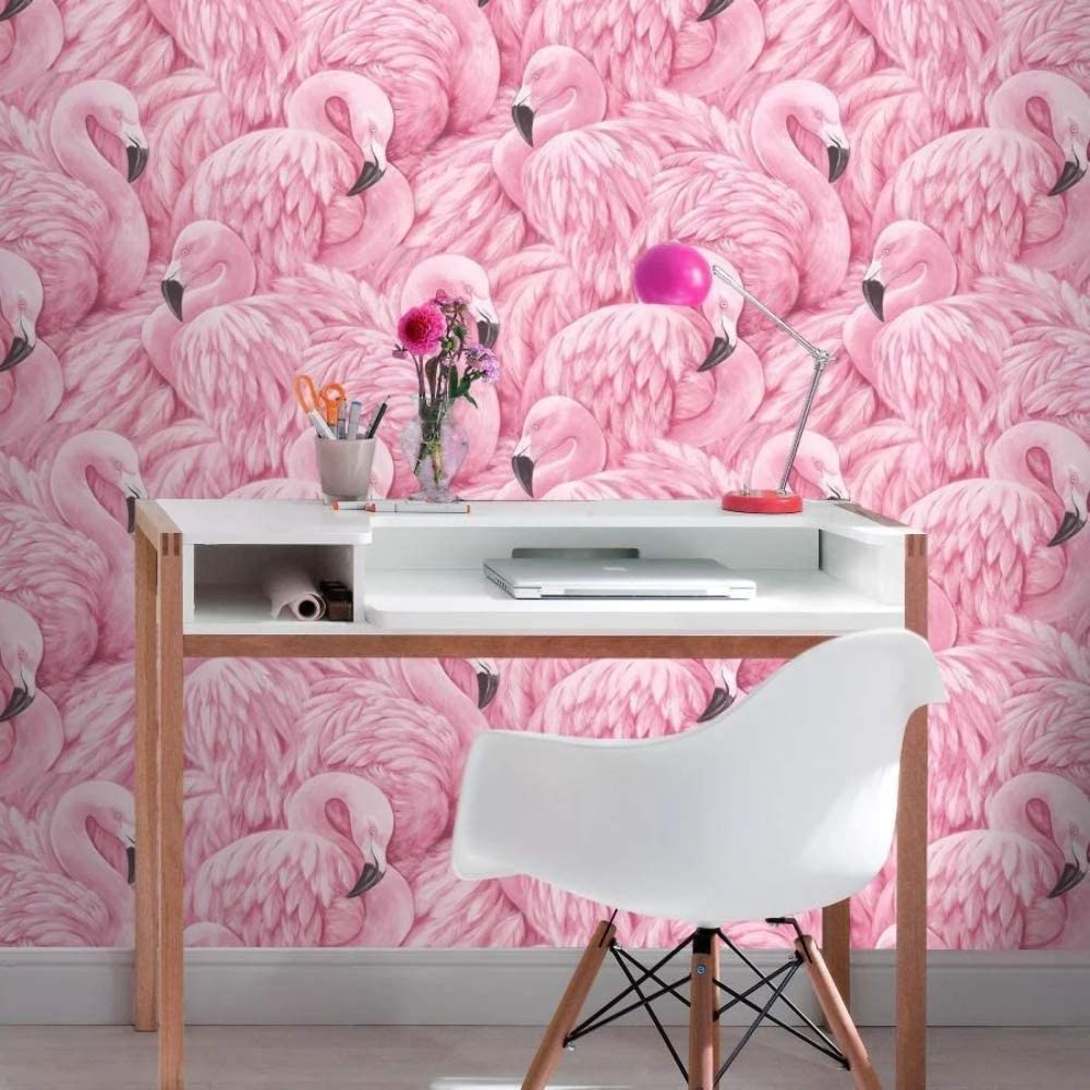 Flamingo Wallpaper Pink Rasch 277890 Amazon Com