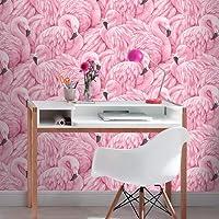 Flamingo behang roze Rasch 277890