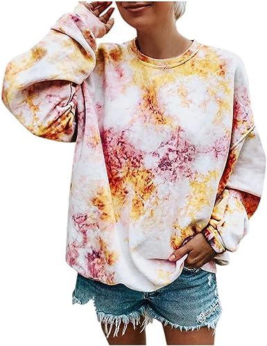 Sudadera Mujer Tumblr, K-Youth Casual Gradiente Color Camisetas de ...