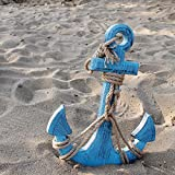 Grace Home Wooden Anchor with Rope and