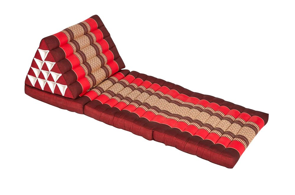 My Zen Home Relaxating Triangle Lounger - Red/Burgundy by My Zen Home