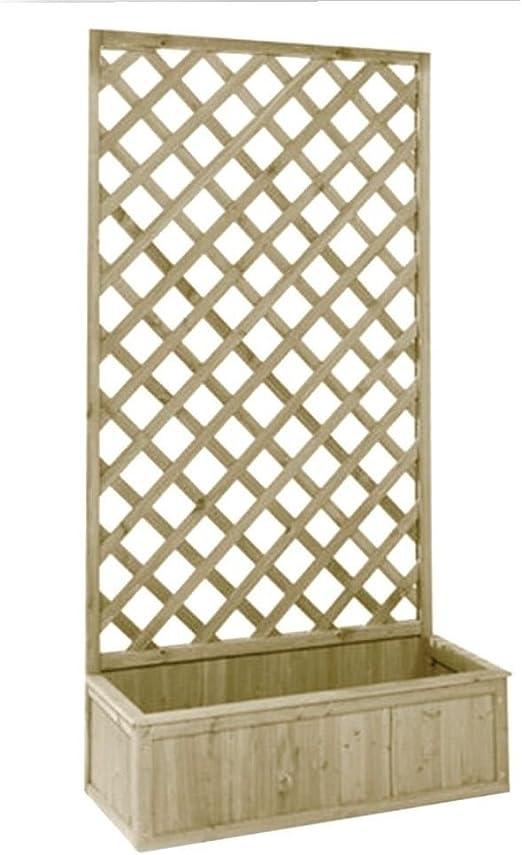 Evergreen - Pérgola con jardinera - Fabricada en madera - Medidas 40 x 90 x 180 cm - Ideal para el jardín - Modelo n. EG51739: Amazon.es: Jardín
