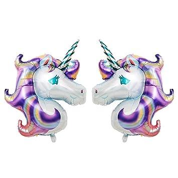 Amazon.com: Balonar - 2 globos morados de unicornio de 43 ...