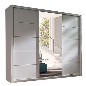 Kleiderschrank weiß schiebetüren spiegel  Kleiderschrank mit Spiegel Geodi, Elegante und Modernes ...