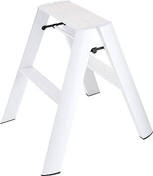 Escalera pequeña plegable, escalón Taburete Diseño delgado 2 pasos Blanco plegable Escalera de aluminio, Plataforma de trabajo multiuso, para bricolaje, decoración, hogar y comercio (color : Blanco) : Amazon.es: Bricolaje y herramientas