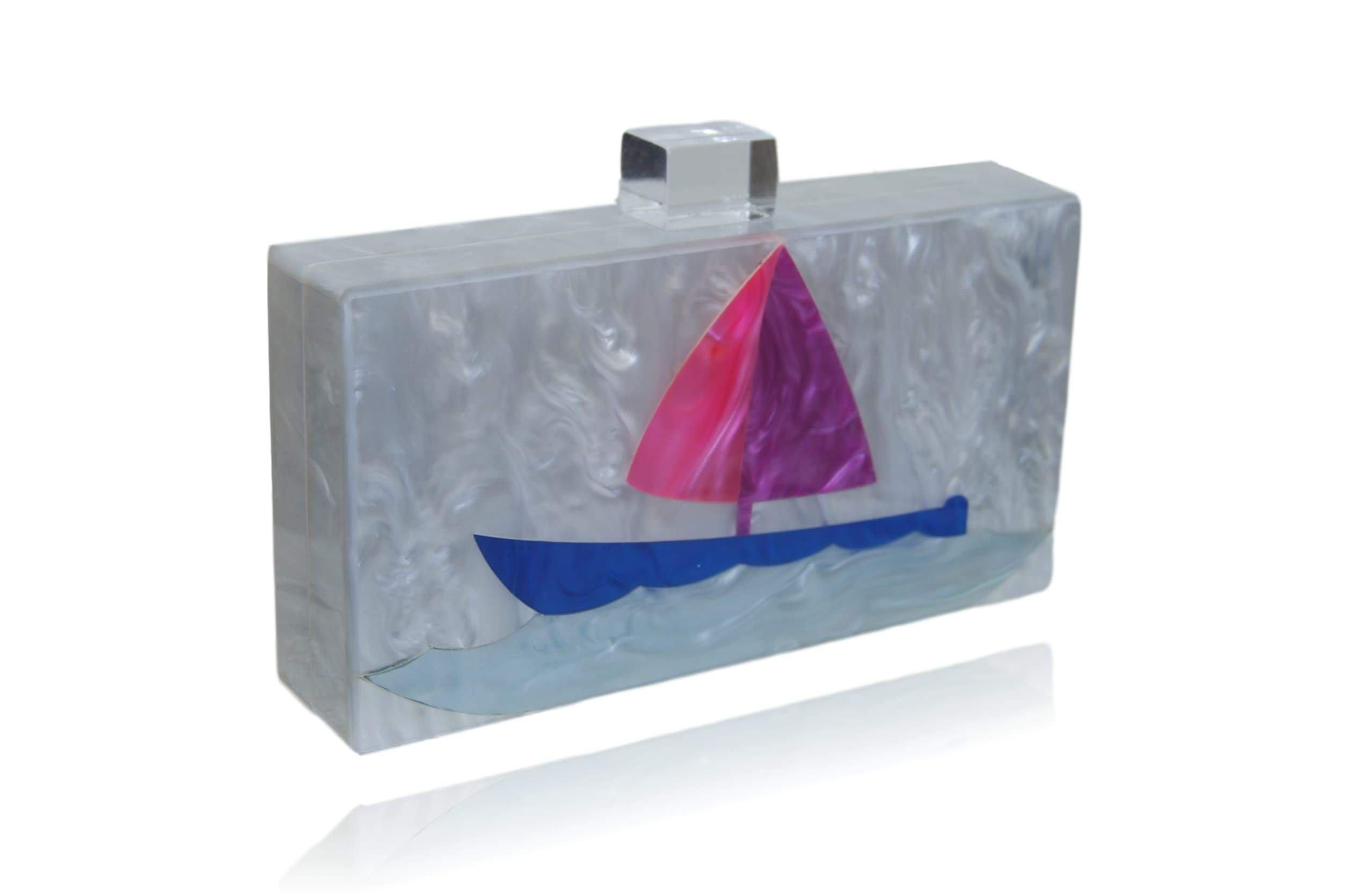 Designer Acrylic Boat Clutch