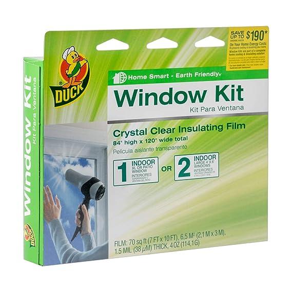 Duck Brand Indoor Extra Large Window/Patio Door Shrink Film Kit, 84-Inch x 120-Inch, 282450 (Renewed) - - Amazon.com