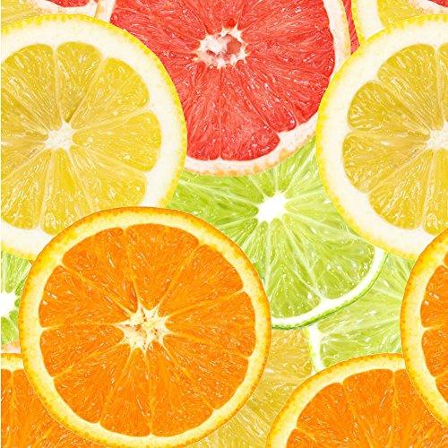 Best Wrapping Paper Sets of 3D Lemon+Orange+Grapefruits Slice Wrapping Paper 15SQFT (Grapefruit Gift)