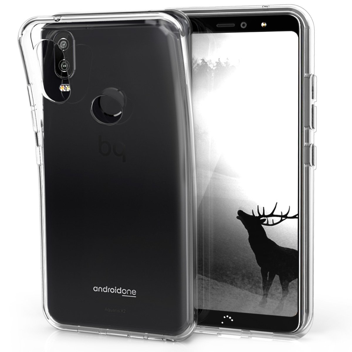 70837b38c08 Amazon.com: kwmobile Crystal Case for bq Aquaris X2 / X2 Pro - Soft  Flexible TPU Silicone Protective Cover - Transparent: Cell Phones &  Accessories
