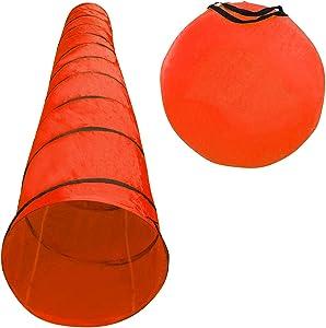 Houseables Dog Tunnel, Agility Equipment, 18 Ft Long, 24