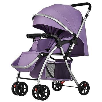 JCOCO El Cochecito de bebé se Puede sentar y acostar Carrito Infantil Ligero Portátil Plegable Amortiguador de Recién Nacido Carretilla para Bebés ...