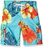 Kanu Surf Little Boys' Toddler Papagayo Floral Swim Trunk, Aqua, 4T