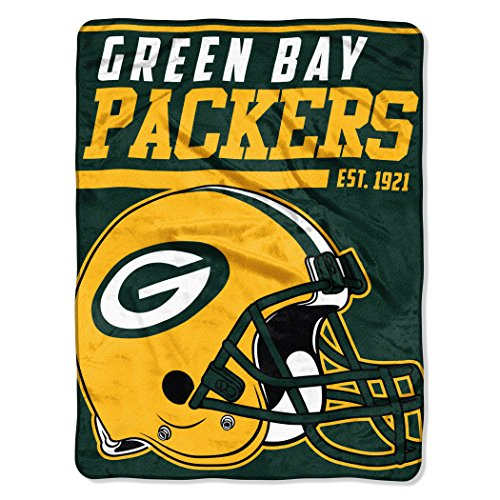 The Northwest Company NFL Green Bay Packers 40-Yard Dash Micro Raschel Throw, 46