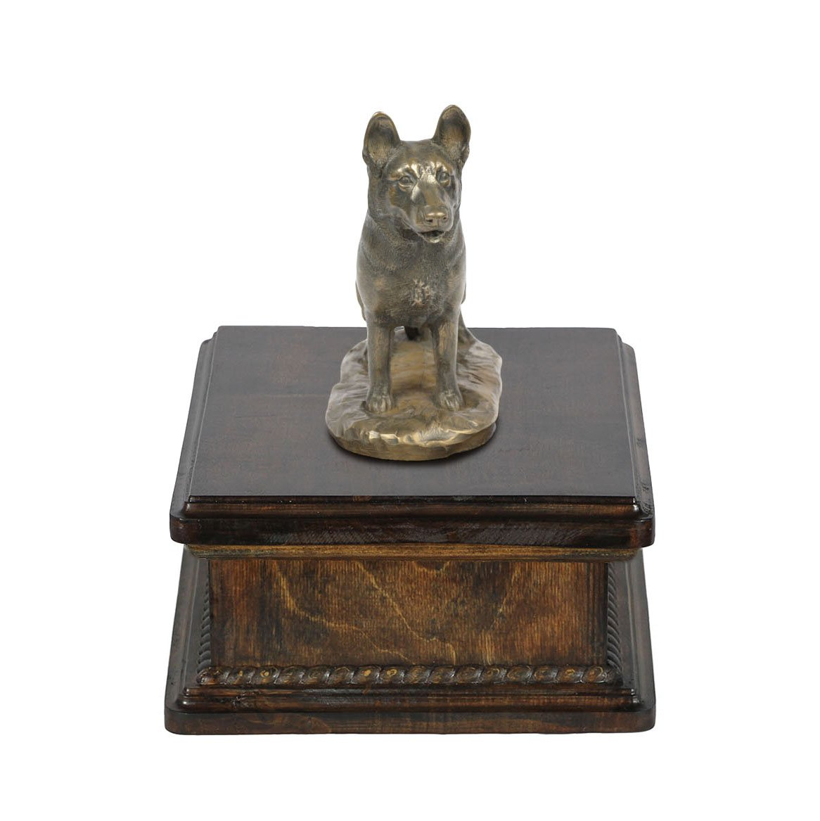 German Shepherd Dog, memorial, urn for dog's ashes, with dog statue, exclusive, ArtDog