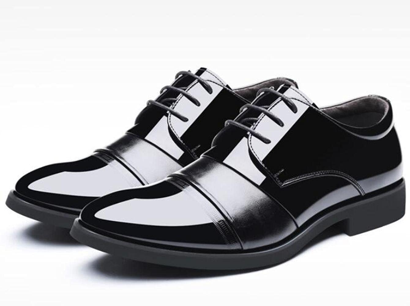 WLFHM Herrenschuhe aus Leder Frühling Hohe Schuhe