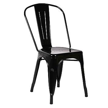 SuperStudio lo+demoda Terek Silla, Acero, Negro, 82x46x58 cm ...
