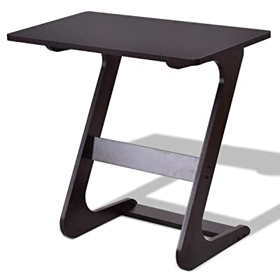 sofa table tv tray nnewvante end table laptop desk side table snack tray for bedside. Black Bedroom Furniture Sets. Home Design Ideas