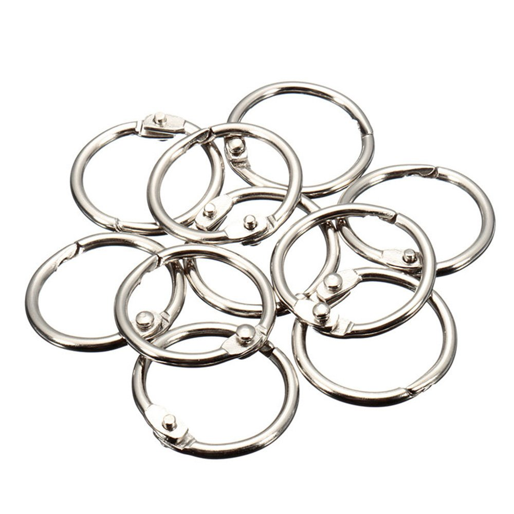 MyLifeUNIT Book Rings, Loose Leaf Binder Rings, 50 Pack, Silver (0.8 inch)