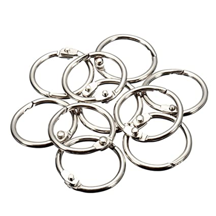 Amazon Com Mylifeunit Book Rings Loose Leaf Binder Rings 50 Pack