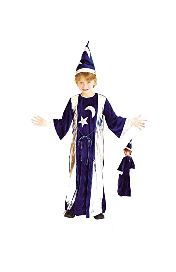 RoarSoar Pretend Play Sorcerer Costume (Age 7 to 8 Years), Large, One Color