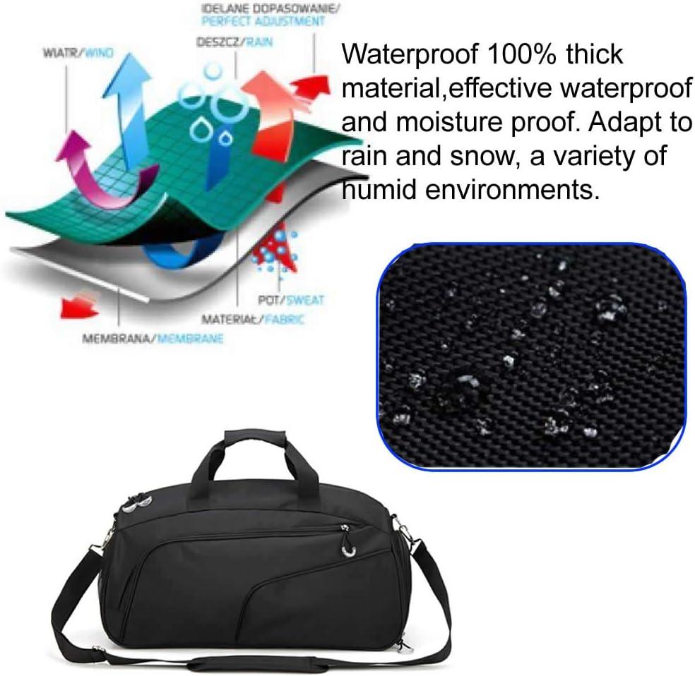 AILI Sac de Sport avec Compartiment pour Chaussures et Poche pour v/êtements humides pour Homme et Femme
