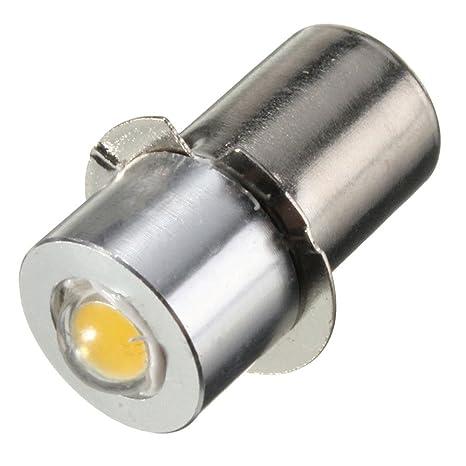 Bombillas LED de repuesto para linterna superbrillante, accesorios P13.5S