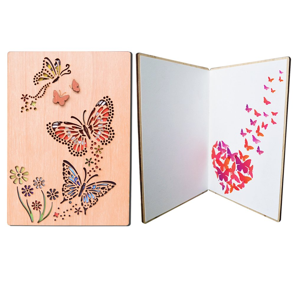 Petaflop Butterflies Handmade Greeting Cards Gift For Mothers Day