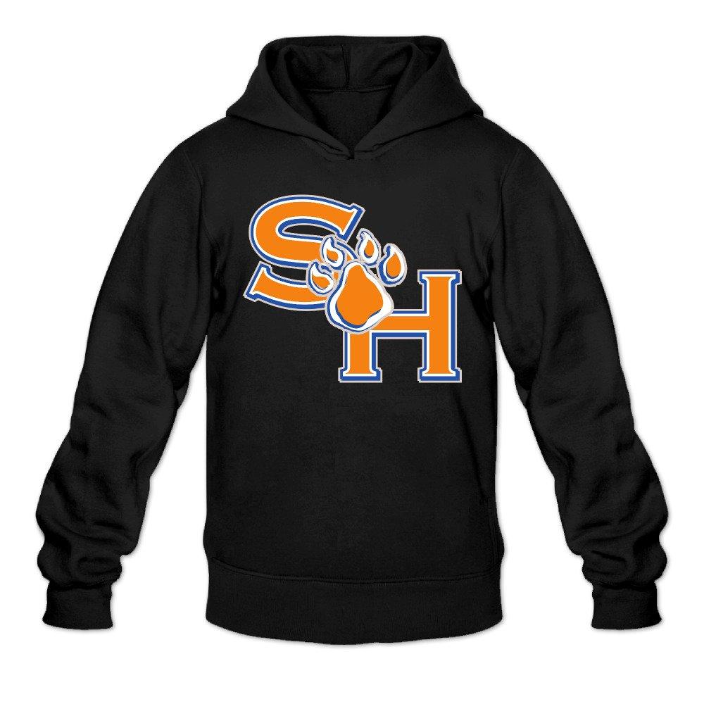 ZZYY Mens Long Sleeve Hoodies Sam Houston State University Hooded Sweatshirt Black