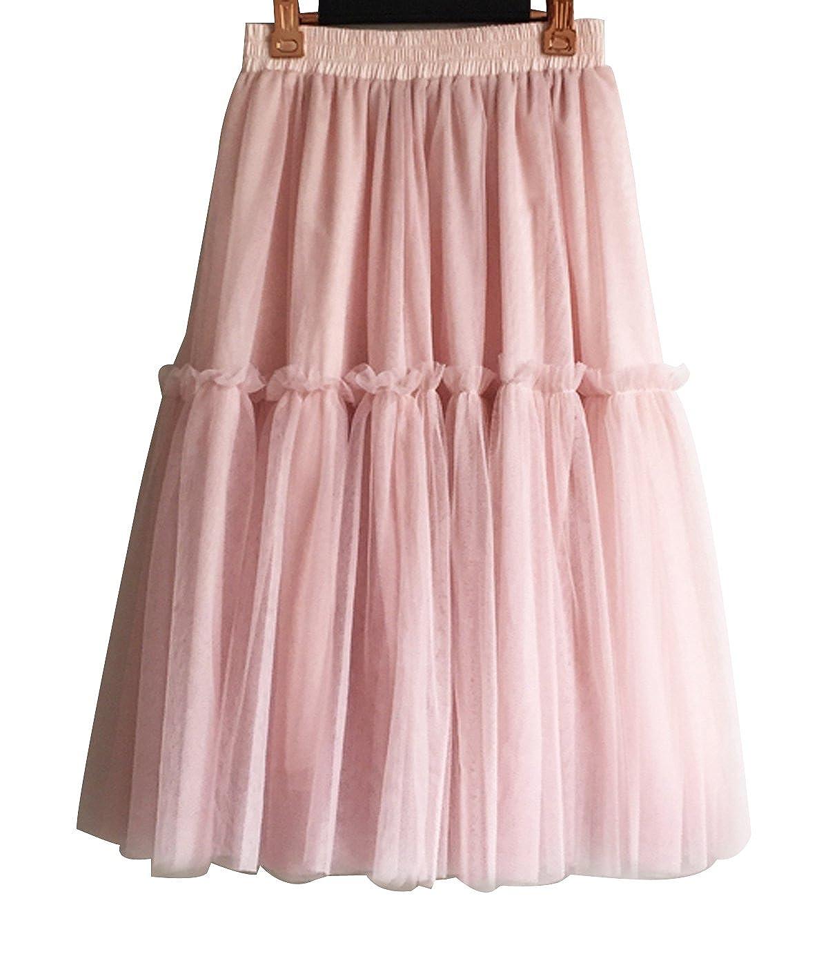 CoutureBridal - Falda - trapecio - para mujer rosa 46-50: Amazon ...