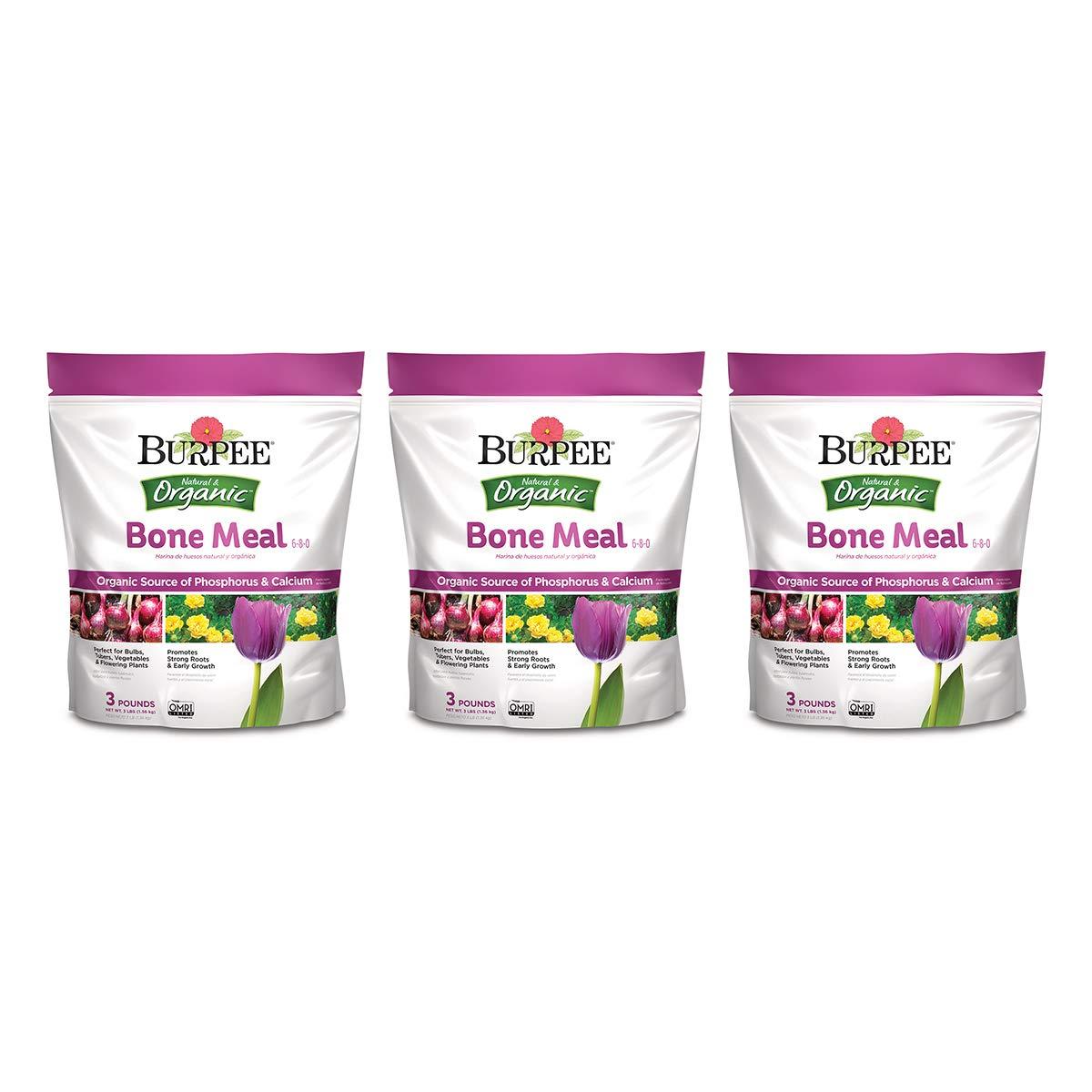 Burpee Organic Bone Meal Fertilizer, 3 lb. (3-Pack), Brown/A